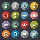 Award,Symbol,Incentive,Icon Set,Award Ribbon,Badge,Sport,Flat,Trophy,Shadow,Star Shape,Crown,Winning,Achievement,Satisfaction,Leadership,Success,Label,Laurel Wreath,Medallion,Competition,Vector,Design Element,Nobility,Computer Graphic,Circle,Pedestal,Cup,Design,Metal,Silhouette,Laureate,Insignia,Diploma,Medal,Arranging,Ilustration,Set,Celebratory Toast,Victory,Diadem,First Place