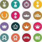 Award Ribbon,Symbol,Gold,Bronze,Cup,Metal,Crown,Celebratory Toast,Silver - Metal,Badge,Award,Set,Achievement,Medal,Leadership,Arranging,Star Shape,Winning,Success,Laurel Wreath,Internet,Isolated,Victory,Ilustration,Vector,Sign,Design Element,Trophy,Insignia,Medallion,First Place,Incentive,Respect,Gratitude,Art,Design,Competition,Computer Graphic,Silhouette,Voting,Soccer,Sport,Banner