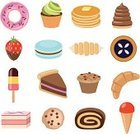 Pancake,Eclair,Slice,Snack,Computer Icon,Candy,Sweet Food,Cupcake,Muffin,Vector,Set,Cream,Croissant,Macaroon,Pastry,Dessert,Cookie,Flavored Ice,Strudel,Ilustration,Collection,Strawberry,Cake,Donut,Chocolate,Food,Pie,Bakery