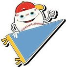 Pennant,Sport,Bizarre,Vector,2011,May,Humor,Smiling,No People,Anthropomorphic,Copy Space,Cut Out,Staring