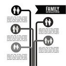 Women,Men,Senior Adult,Infographic,Child,People,Family,Offspring,Frame,Poster,Little Boys,Black Color,Black And White,Label,Symbol,Design,Mother,Collection,Contrasts,Silhouette,Monochrome,Set,Ilustration,Style,White Background,Isolated,Vector,Individuality,Happiness,Father,White