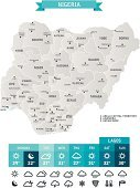Cartography,Map,Nigeria,Weather Map,Meteorology,Weather,Icon Set,Computer Icon