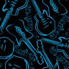 Sketch,seamless pattern,repeat pattern,Black Background,Musical Instrument,Pop Musician,Guitar,Music,Rock and Roll,Vector