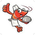 Lobster,Crayfish,Cartoon,Animal,Chef,Restaurant,Drinking Water,Sea,Cooking,Seafood,Food And Drink,Appetizer,Vector,Meal,White,Ilustration,Tail,Food,Mackerel,Refreshment,Gourmet,Red,Orange Color,Characters,Symbol,eatery,Shrimp,Mineral,Crab,Protein,Crustacean,Prawn,Mascot