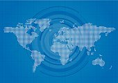 Globe - Man Made Object,World Map,Grid,Surveillance,Computer Icon,Residential District,Spotted,Blue,Abstract,continent,Geographical Locations,Land,National Landmark,Map,nation,Diagram,Business,Technology,Pixelated,Country - Geographic Area,Modern,Graph,Global Business,Circle,Shape