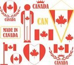 Canadian Flag,Circle,Ottawa,Maple,Canadian Culture,Heart Shape,Leaf,Canada,Set,Cultures,Design Element,Isolated,Crown,Vector,Men,Famous Place,Collection,Old-fashioned,Red,Travel,Sign,Laurel Wreath,Flag,Symbol,Tourism,People