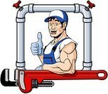 Muscular Build,Plumber,Strength,Happiness,Cheerful,Pipeline,Maintenance Engineer,Smiling,Vector,Concepts,Thumbs Up,Manual Worker,Expertise,Repairman,Equipment,Male,White Background,Pipefitter,Service Occupation,Occupation,Ilustration,Wrench,One Person,Caucasian Ethnicity,Men,Adjustable Wrench,Work Tool,Service,Cartoon,Isolated On White,Only Men,Mature Men,White,Professional Occupation,Repairing,Job - Religious Figure,Bib Overalls,Pipe - Tube,Working,Water Pipe,Isolated