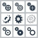 Machinery,Concepts & Topics,Concepts,Motion,Equipment,Symbol,Sign,Gear,Communication,Cooperation,Manufacturing Equipment,Industry,Technology,Engine,Factory,Turning,Working,Silhouette,Wheel,Machine Part,Cut Out,Spinning,Engineering,Electrical Component,Illustration,Vector,Collection,Socket Wrench
