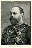 King Edward VII,Engraved Image,England,English Culture,European Culture,Europe,Ilustration,Facial Hair,UK,Northern European Descent,Royal Person,Portrait,Fine Art Portrait,Military Uniform,Obsolete,Prince,The Past,Print,Uniform,Men,Old-fashioned,Victorian Style,Antique,Beard,Image Created 19th Century,19th Century Style,Male,History,King,Black And White,British Culture,Woodcut,Prince Of Wales,Old,Retro Revival,Cultures,The Human Body,Styles,Vertical