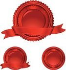 Seal - Stamp,Certificate,Red,Metallic,Incentive,Color Gradient,Circle,Celebration,Competition,Label,Banner,Icon Set,Award,Second Place,Ribbon,Success,Computer Icon,Badge,Vector,Beautiful,Shiny,Design Element,Design,Award Ribbon,Copy Space,Set,Third Place,First Place,Medal,Perks,Ribbon