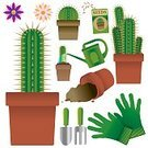 Cactus,Seed Packet,Gardening Glove,Houseplant,Compost,Seed,Watering Can,Vector,Icon Set,Symbol,Plant,Ilustration,Trowel,Isolated Objects,Computer Icon,Illustrations And Vector Art