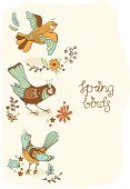 Creativity,Season,Romance,Old-fashioned,Bird,Nature,Blossom,Computer Graphic,Floral Ornament,Flower,floral ornament,Matthew Spring,Leaf,Backgrounds