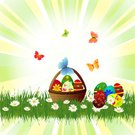 Elegance,Sunbeam,Striped,Meadow,Easter,Celebration,Abstract