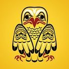 Canada,Inuit,Haida,Pole,Creativity,God,Cultures,Symbol,Primitivism,Red,stylization,tlingit,Computer Graphic,Ilustration,Pacific Ocean,North-west Province - South Africa,Yellow,white head,Image,First Nations,Abstract,Pattern,Indigenous Culture,Tattoo,Bird,Vector