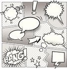 Comic Book,Cartoon,Humor,Bubble,Speech Bubble,Exploding,Arrow Symbol,Page,Halftone Pattern,Drawing - Art Product,Design Element,Thinking,Vector,Black And White,Surprise,Line Art,Outline,Cloudscape,Message,Talking,Sketch,Label,Screaming,Balloon,Shouting,Curve,Retro Revival,Symbol,Discussion,Communication,Anger,Empty,Lightning,Direction,Banner,Set,Whispering,Rectangle,Copy Space,Circle,Blank,Comic Art,hand drawn,Speech,template