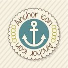 Nautical Vessel,Design,Shape,Circle,Rubber Stamp,Seal - Stamp,Sea,Postcard,Vector,Vacations,Ilustration,Backgrounds,Icon Set,Symbol,Anchor