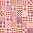 Backgrounds,Patchwork,Wallpaper Pattern,Curve,Square Shape,Plaid,Magenta,Checked,Stitches,Quilt,Continuity,Pink Color,Textured Effect,Textile,Sewing,Orange Color,Pattern,Backdrop,Seam,Seamless,Repetition,Vector