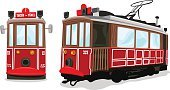 Cable Car,Istanbul,Turkey - Middle East,Train,Tourism,Railroad Track,Tramway,Overhead Cable Car,taksim