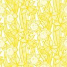 Daffodil,Backgrounds,Ilustration,Ornate,jonquil,Pattern,Multi Colored,Botany,Organic,Vector,Textile,Summer,Nature,Nobility,Elegance,Computer Graphic,Luxury,Leaf