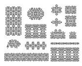 Floral Pattern,Set,Pattern,Design Element,Branch,Rococo Style,Contour Drawing