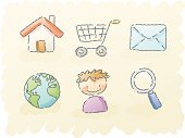 Shopping Cart,Symbol,Cart,Drawing - Art Product,Computer Icon,Shopping,Sketch,Scribble,Globe - Man Made Object,Icon Set,Internet,Watercolor Painting,House,Cartoon,People,Child's Drawing,Store,Cute,Residential Structure,Earth,E-commerce,E-Mail,Searching,One Person,Magnifying Glass,World Map,user,Envelope,Web Page,Connection,Technology,Set,Retail,Vector,Link,hand drawn,Illustrator,Vector Icons,Technology,Technology Symbols/Metaphors,Communications Technology,Illustrations And Vector Art,Hyperlink