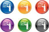 Seminar,Presentation,Conference Call,Symbol,Organization Chart,Computer Icon,Business,Interface Icons,Tax,White Background,Advice,Meeting,Icon Set,Green Color,Red,Graph,Chart,Yellow,Black Color,Blue,Awards Ceremony,Business Person,Stock Market,Finance,Businesswoman,Explaining,Debt,Pointing,Shiny,Investment,Digitally Generated Image,Businessman,Vector,Interest Rate,Answering,Circle,Identification Chart,Global Business,Staff Meeting,Design,Ilustration,Talking,Panel Discussion,Banking,Modern,Sparse,Purple,Curve