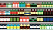 Supermarket,Shelf,Credit Card,Consumerism,Merchandise,Warehouse,Can,Full,Food,Marketing,Sale,Customer,Vector,Store,Aisle,Retail,Shopping Mall