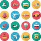 Transportation,Computer Icon,Flat,Hot Air Balloon,Car,Rocket,Sports Shoe,Flying,Bicycle,Walking,Nautical Vessel,Ship,Bus,Passenger Ship,Vector,Set,Ilustration,Airplane,Driving,Train,Overhead Cable Car,Inline Skate,Urban Transportation,Collection,Sports Utility Vehicle,Land Vehicle,Motor Scooter,Helicopter,Cable Car,Action