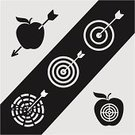 Target,Target,Apple - Fruit,Sport,Design,D.J. White,Accuracy,Hitting,Computer Graphic,Leisure Games,Midsection,Success,Ideas,Aiming,Circle,Sign,Symbol,Arrow,Ilustration,Bull's-Eye,Vector,Center