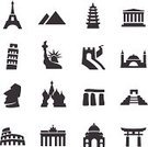 Computer Icon,Symbol,Greece,Egypt,Germany,Icon Set,Great Wall Of China,Famous Place,Black Color,Brandenburg Gate,Mexico,Statue of Liberty,Russia,Stonehenge,Coliseum,Italy,Giza Pyramids,Kremlin,Built Structure,Easter Island,Travel,Ilustration,Chile,Interface Icons,Aya Sofya,Leaning Tower of Pisa,Vector,Taj Mahal,Porcelain Tower,Palm Tree,History,UK,Chichen Itza,Japan,Vacations,Moai Statue,The Americas,Acropolis,France,Tower,USA,Architecture,Computer Graphic,India,China - East Asia,Kiyomizu-dera Temple,Turkey - Middle East,Eiffel Tower,Tourism