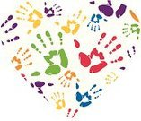 Handprint,Heart Shape,Pattern,Palm,Color Image,Ilustration,Vector,Computer Graphic