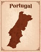 Map,Portugal,Cartography,Portuguese Culture,Frame,Surfing,Text,Retro Revival,Country - Geographic Area,old paper,Vector,Torn,ISTEXT2012,Dirty,Customized,Ilustration,Grunge
