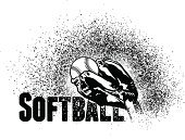 sports and fitness,Sports Equipment,Sports Symbols,Vector,Sport,Ball,Sports Team,Catching,Softball - Ball,Softball Glove,Sports Glove,Team Sport,Softball