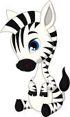 Young Animal,Zebra,Vector,Cute,Sitting,Animal,Cartoon,Animals In The Wild,Africa,Ilustration,Characters,Safari Animals,Cheerful,Smiling,Fun,Black Color,Happiness,Mammal,Mascot,Humor,White,Striped,Zoo,Symbol,Tropical Rainforest