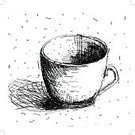 Espresso,Pencil Drawing,Heat - Temperature,Cup,Isolated,Tea Cup,Remote,Breakfast,Cappuccino,Symbol,Drink,Scribble,Human Hand,Pencil,Single Object,Drinking,Computer Graphic,Crockery,Morning,Pattern,Sign,Backgrounds,Vector,Doodle,D.J. White,Old-fashioned,1940-1980 Retro-Styled Imagery,Drawing - Art Product,Ilustration,Cafe,Cute,Drawing - Activity,Mug,Sketch,Decoration