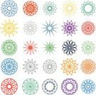 spirograph,Circle,Ornate,Mandala,Ilustration,Pattern,Decoration,Sign,Symbol,Vector,Abstract,Backgrounds,Computer Graphic,Symmetry,Cultures,Collection,Geometric Shape,Napkin,Embroidery,Textile,Mosaic