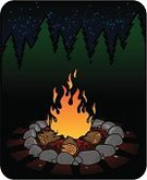 Campfire,Boy Scout,Fire Pit,Camping,Fire - Natural Phenomenon,Hiking,Burning,Log,Woodland,Extreme Terrain,Wilderness Area,Heat - Temperature,Night,Nature,Wood - Material,Flame,Summer,Outdoors,Hunting,Nature,Star Shape,Star - Space