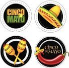 Cinco De Mayo,Mexican Culture,Sombrero,Party - Social Event,Text,Maraca,Pepper - Vegetable,Green Color,Hat,Variation,Decoration,Set,The Americas,Latin American Culture,Number 5,Collection,Computer Icon,Black Color,Circa 5th Century,Design,Cheerful,Carnival,Isolated,Backgrounds,Cultures,Yellow,Red,White,Holiday,Symbol,Circle,May,Badge,Label,Ilustration,Typescript,Celebration,Humor,Happiness,Multi Colored,Group of Objects,Cheering