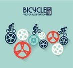 Bicycle,Cycling,Wheel,Gear,Cycle,Speed,Sign,Design,Business,People,Sport,Lifestyles,Riding,Label,Traffic,Insignia,Ideas,Computer Graphic,Transportation,Activity,Art,Action,Symbol,Ilustration,Machine Part,Vector
