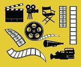 Movie,Film,Video,Religious Icon,Television Camera,Symbol,Home Video Camera,Camera - Photographic Equipment,Director,Hollywood - California,Film Industry,Clapboard,Camera Film,Film Slate,Film Reel,Computer Icon,Projection Equipment,Making,Chair,Vector,Camera Operator,Icon Set,Rolled Up,Producer,VCR,Editor,Filming,Sports Uniform,The Media,Countdown,Photographing,Theatrical Performance,Stage Theater,Seat,Entertainment,Black Color,Action,White,Digital Video Camera,Photographic Slide,Cross Section,Video Still,Blank,Development,Cinema,Theatre,Arts And Entertainment,Isolated Objects