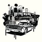 City Of Los Angeles,Gangsta Rap,Cityscape,California,Long Beach,Multiple Lane Highway,Vector,Urban Scene,Grunge,Retro Revival,Ilustration,Palm Tree,Lincoln - Nebraska,Lincoln - Lincolnshire,Lincoln - Massachusetts,Lincoln Car,Crime,Old-fashioned,Suspension Bridge,old car,inner-city,Architecture Backgrounds,Architecture And Buildings,Freeway Sign,low-rider,Transportation