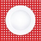 Square Shape,Crockery,Napkin,Checked,Picnic,Textile,Red,Table,Pattern,Circle,Cotton,Dinner,Clean,Breakfast,No People,Tablecloth,Backdrop,Backgrounds,Menu,Restaurant,Textured Effect,White,Plate,Meal,Food,Kitchen,Lunch,Empty
