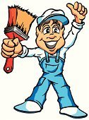 Men,Vector,House Painter,Cartoon,Painting,Wall,Home Interior,House,Business,Home Decorator,Ilustration,Repairing,Adult,Decoration,Home Improvement,Color Image,Paintbrush,Backgrounds,Colors,Bucket,Bib Overalls,Computer Graphic,Isolated,Manual Worker,Design,Residential Structure,Improvement,Paint,Construction Industry