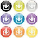 Downloading,Symbol,Interface Icons,Push Button,Religious Icon,Computer Icon,Web Page,Icon Set,Internet,Lightweight,Set,Vector,Curve,Illustrations And Vector Art,Concepts,Reflection,Group of Objects,Ideas,Collection,Sign,Gray,Shiny,Frame,Circle,Light - Natural Phenomenon,Ilustration