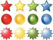 Star - Space,Symbol,Star Shape,Computer Icon,Green Color,Push Button,Icon Set,Red,Blue,Glass - Material,Shiny,Computer Graphic,Sign,Clip Art,Color Image,Illuminated,Orange Color,Ilustration,Vector,Objects/Equipment,Illustrations And Vector Art,Design,Conceptual Symbol