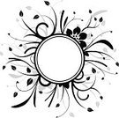 Text,Vine,Circle,Black Color,White,Ornate,Flower,Floral Pattern,Abstract,Grass,Backgrounds,Silhouette,Petal,Leaf,Summer,Gray,Nature,Painted Image,Ilustration,Flowers,Image,Illustrations And Vector Art,Season,Nature,Isolated Objects