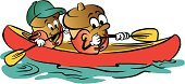 Acorn,Canoeing,Cartoon,Child,Paddling,Rowing,Oar,Ilustration,Vector,Life Jacket,Water,Cap,Fun,Happiness,Healthy Lifestyle,Smiling,Horizontal,Water,Concepts And Ideas,Sports And Fitness,Recreational Pursuit,Characters,Color Image,Adult