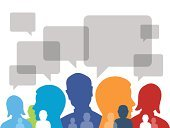 Discussion,Talking,Human Head,Symbol,Communication,People,Group Of People,Social Networking,Silhouette,Teamwork,Speech,Computer Graphic,Marketing,Women,Cooperation,Team,Community,Abstract,Ideas,Male,Concepts,Connection,Design Element,Information Medium,Men,Vector,Colors,Strategy,Ilustration,Set,Shape