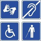 Disabled,Physical Impairment,Computer Icon,Accessibility,Symbol,Lifestyles,Senior Adult,Human Hand,Road Sign,White,Healthcare And Medicine,People,Illness,Warning Sign,Care,Sign,Chair,Loss,At Attention,Danger,Silhouette,Wheelchair,Help,Blue,Forbidden,Physical Injury,Medicine,Parking Sign