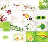 Sunbeam,Flowing,Vector,Leaf,Mega,Collection,Flying,Grass,Circle,Season,template,Summer,Sparse,Ilustration,Computer Graphic,Image,Freshness,Curve,Environment,Pattern,Abstract,Backgrounds,Nature,Shiny